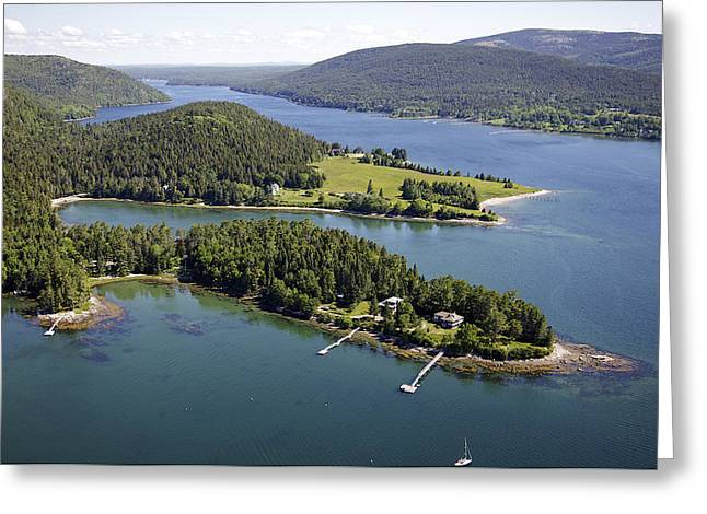 Somesville Maine Greeting Cards - Somesville, Mount Desert Island Greeting Card by Dave Cleaveland