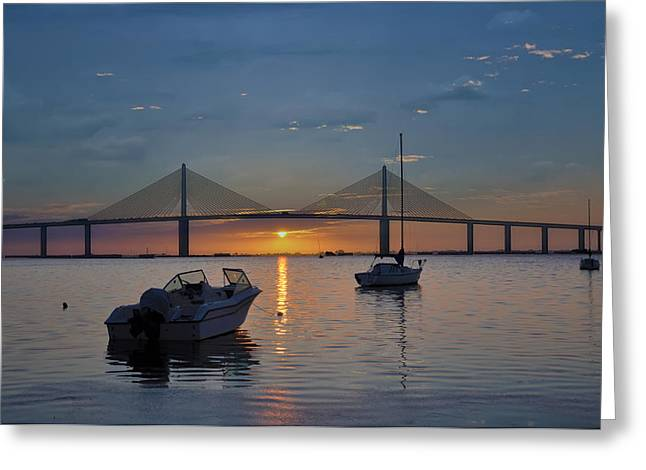 St Petersburg Florida Greeting Cards - Something About a Sunrise Greeting Card by Bill Cannon