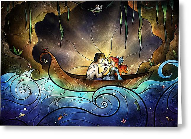 The Little Mermaid Greeting Cards - Something About Her Greeting Card by Mandie Manzano