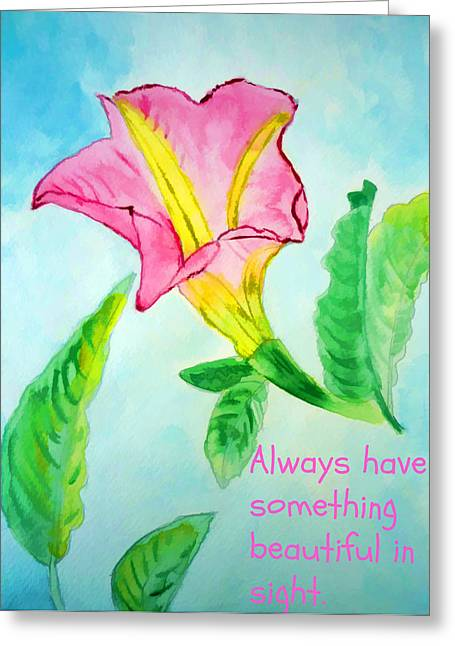 Something Beautiful Greeting Card by Jo Ann