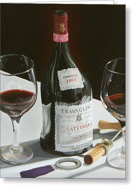 Red Wine Prints Greeting Cards - Something Special Greeting Card by Brien Cole
