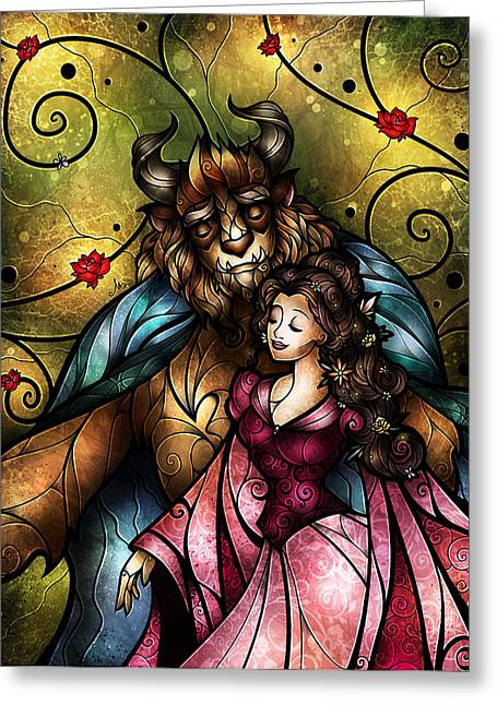 Beauty And The Beast Greeting Cards - Something Sweet Greeting Card by Mandie Manzano
