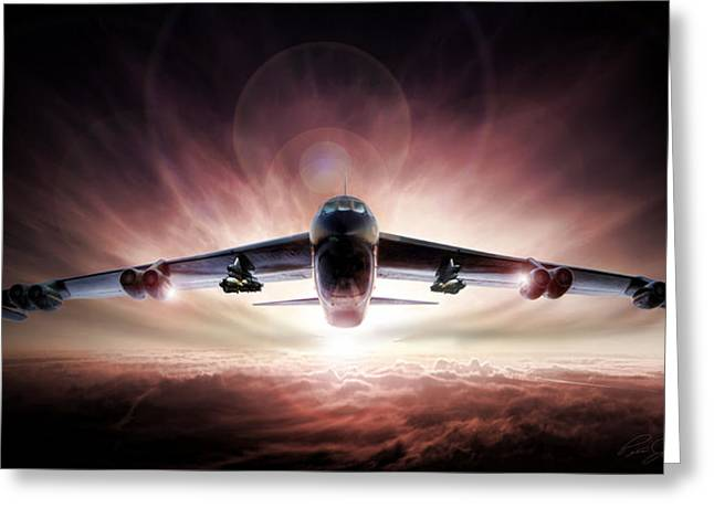 B-52 Greeting Cards - Something Wicked This Way Comes Greeting Card by Peter Chilelli