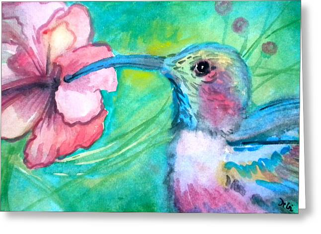 Loose Greeting Cards - Somethings Humming Greeting Card by Debi Starr