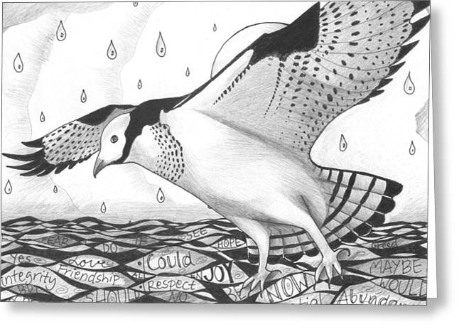 Love The Animal Mixed Media Greeting Cards - Sometimes a Great Catch Greeting Card by Helena Tiainen