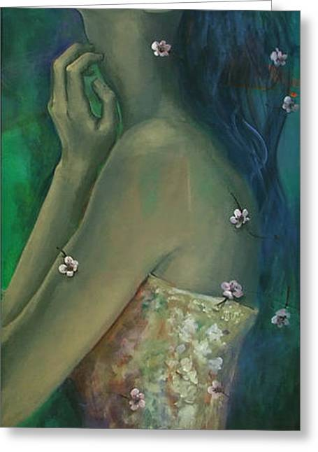 Cherry Women Greeting Cards - Sometimes I feel so temporary... Greeting Card by Dorina  Costras