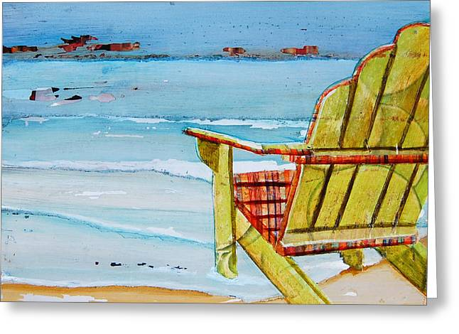 Beach Chair Greeting Cards - Sometimes Its Good To Be Shallow Greeting Card by Danny Phillips