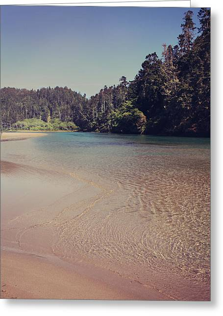 Flowing Greeting Cards - Sometimes Its So Clear Greeting Card by Laurie Search