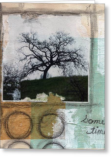 Nature Collage Greeting Cards - Sometimes Greeting Card by Linda Woods