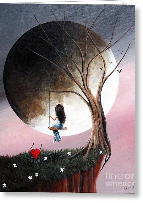Surreal Fantasy Trees Landscape Greeting Cards - Sometimes She Just Wants To Be Alone by Shawna Erback Greeting Card by Shawna Erback