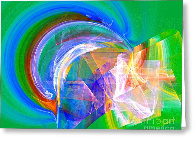 Scribbles Of Energy Greeting Cards - Somewhere 2 Greeting Card by Jeanne Liander