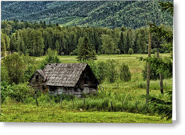 Cattle-shed Digital Art Greeting Cards - Somewhere in Alberta Greeting Card by Kathleen Bishop