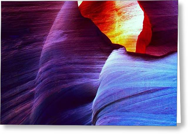 Purchase Greeting Cards - Somewhere in America series - Blue in Antelope Canyon Greeting Card by Lilia D