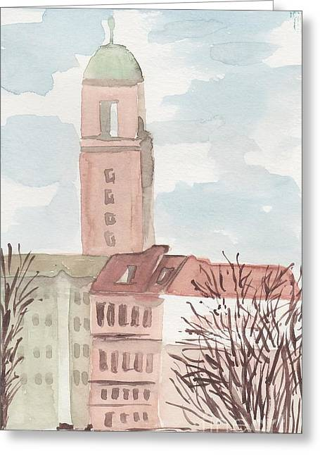 Somewhere In Berlin Greeting Card by Catalina Velasquez