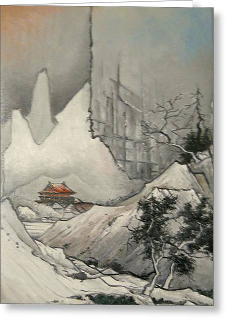 Landscape Framed Prints Greeting Cards - Somewhere in Japan Greeting Card by Sorin Apostolescu