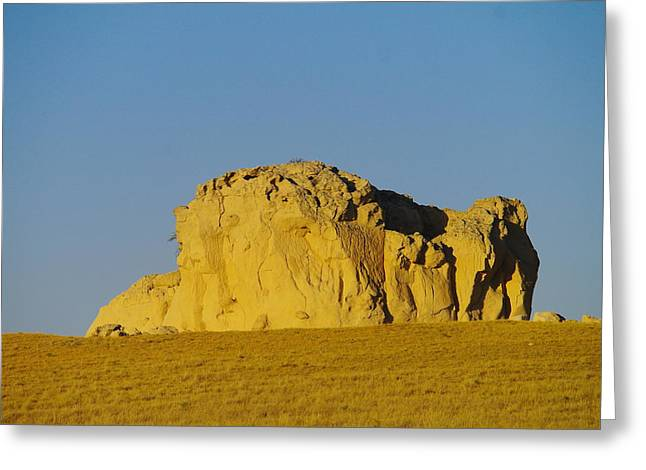 Monolith Greeting Cards - Somewhere In Southern Wyoming Greeting Card by Jeff  Swan