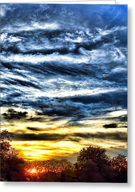 Nightfall Greeting Cards - Somewhere on Earth Greeting Card by Olivier Le Queinec