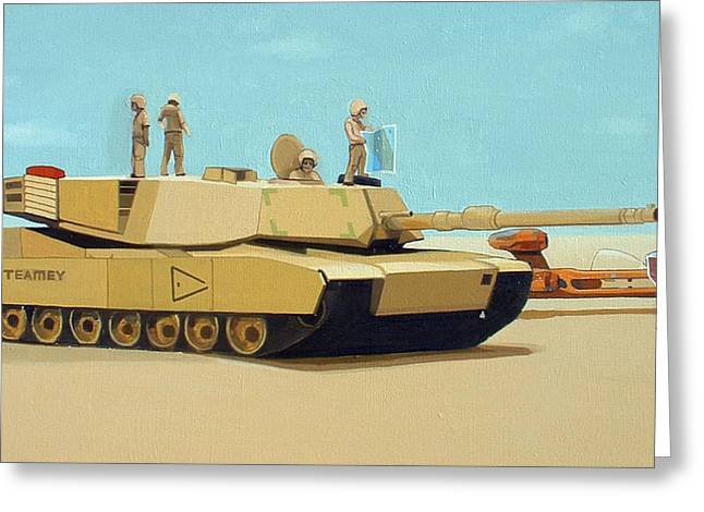 Tank Greeting Cards - Somewhere Outside Baghdad Greeting Card by Scott Listfield