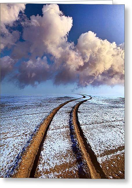 Tire Greeting Cards - Somewhere Over The Horizon Greeting Card by Phil Koch