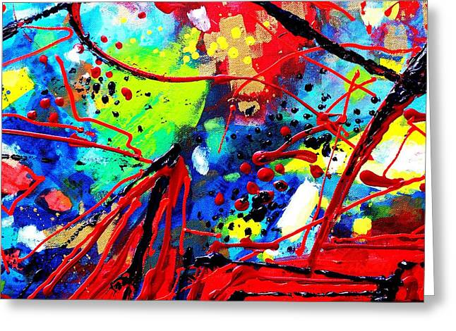 Abstract Art Greeting Cards Greeting Cards - Somewhere Over The Rainbow  II    cropped version  Greeting Card by John  Nolan