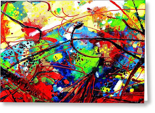 Abstract Art Greeting Cards Greeting Cards - Somewhere Over The Rainbow  II Greeting Card by John  Nolan