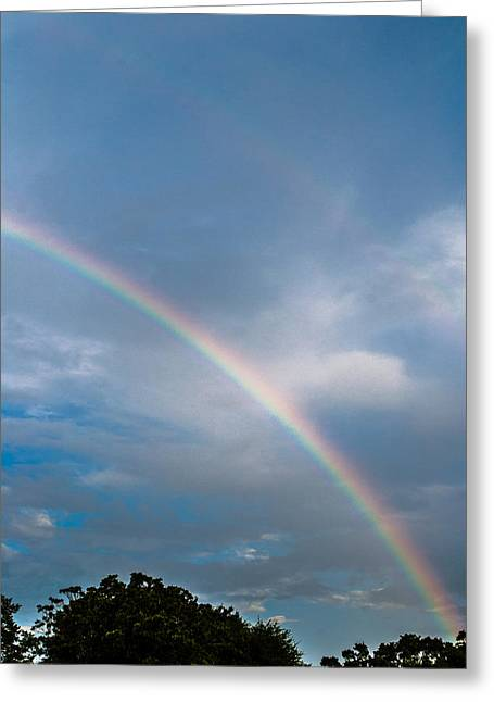 Double Rainbow Greeting Cards - Somewhere Over the Rainbow Greeting Card by Shelby  Young