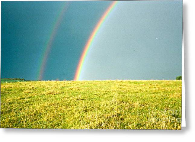 Somewhere Over The Rainbow Greeting Card by Virginia Ann Hemingson