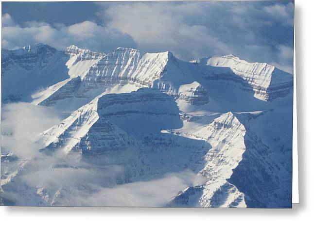 Snow-covered Landscape Greeting Cards - Somewhere Over the Rockies Greeting Card by Angie Vogel