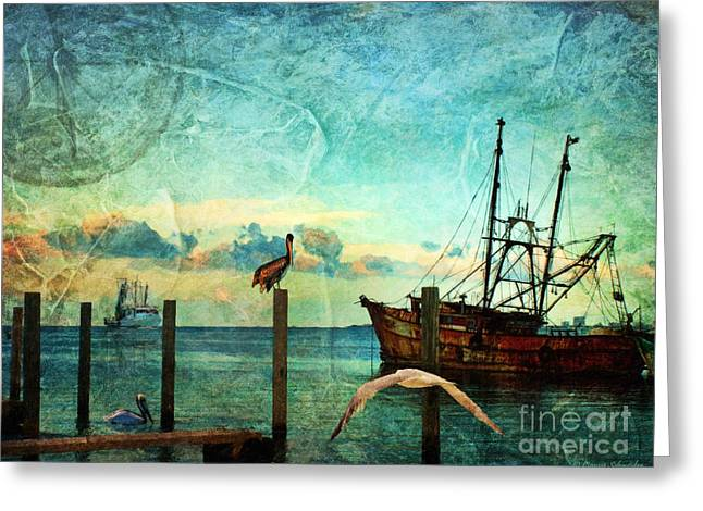 Lianne Schneider Greeting Cards - Somewhere...beyond the sea Greeting Card by Lianne Schneider