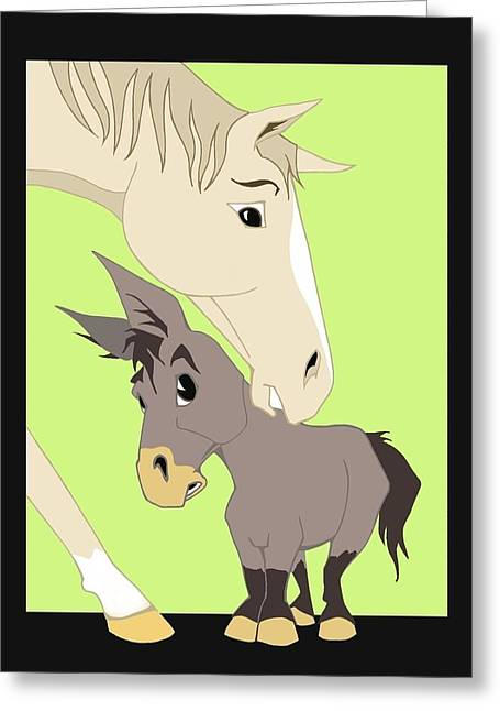 Jackass Foal Greeting Cards - Son of a Jackass Greeting Card by Tammy Long