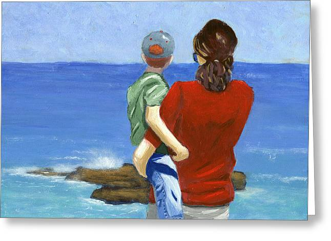 Son of a Sailor Greeting Card by Karyn Robinson