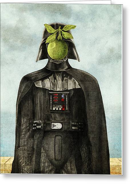 Star Drawings Greeting Cards - Son of Darkness Greeting Card by Eric Fan