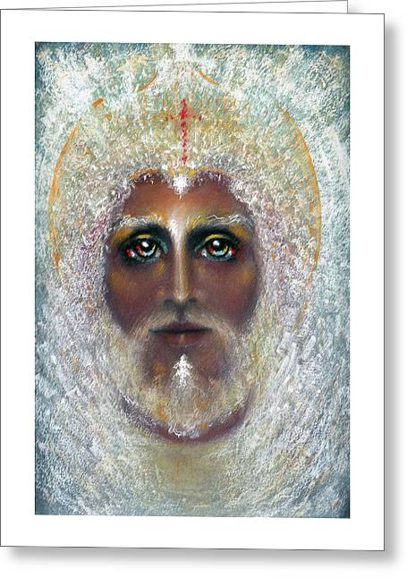 Thomas Pastels Greeting Cards - SON OF GOD  Pastel Eikons of Christ Greeting Card by Vicki Thomas