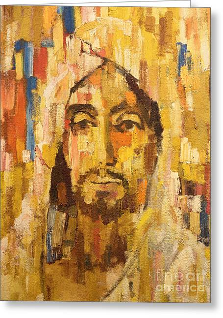 Ecce Paintings Greeting Cards - Son of Man Greeting Card by Lutz Baar