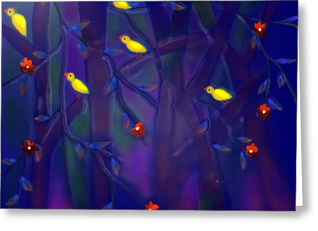 Wishes Greeting Cards - Sonata Greeting Card by Latha Gokuldas Panicker