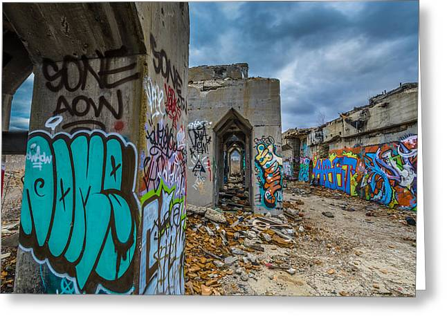 Abandonded Greeting Cards - Sone Greeting Card by Randy Scherkenbach