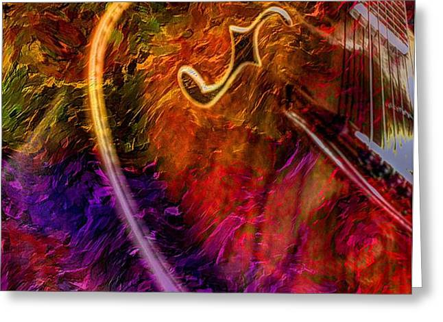 Song And Dance Digital Guitar Art by Steven Langston Greeting Card by Steven Lebron Langston