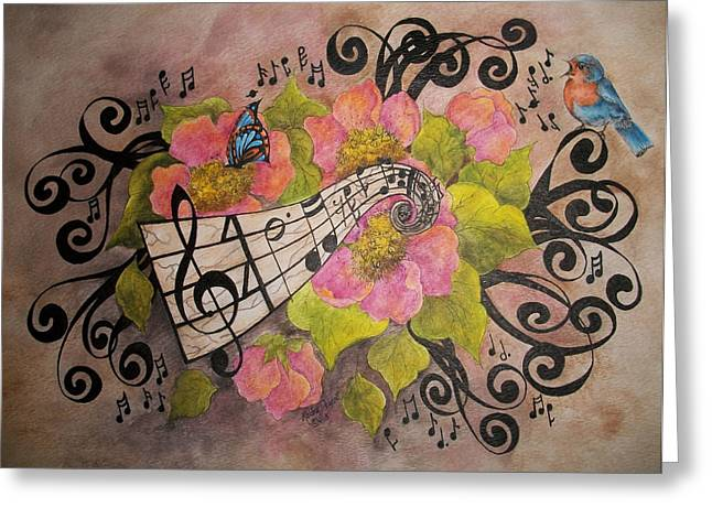 Song Of My Heart Greeting Cards - Song of My Heart and Soul Greeting Card by Meldra Driscoll