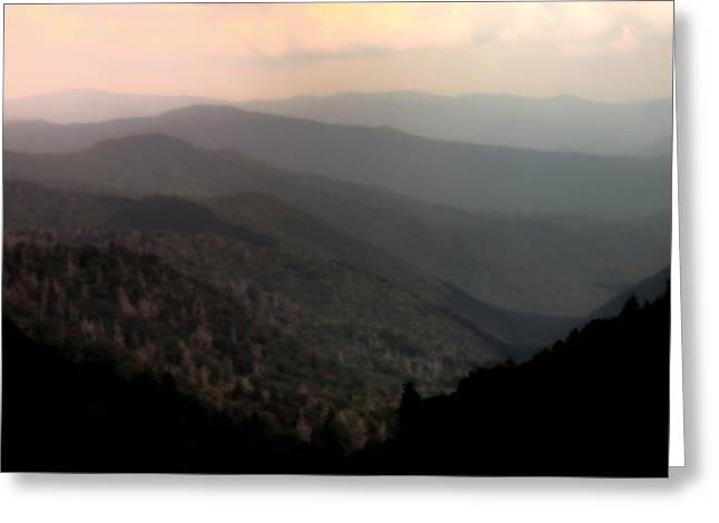 Smokey Mountains Greeting Cards - SONG of SERENITY Greeting Card by Karen Wiles