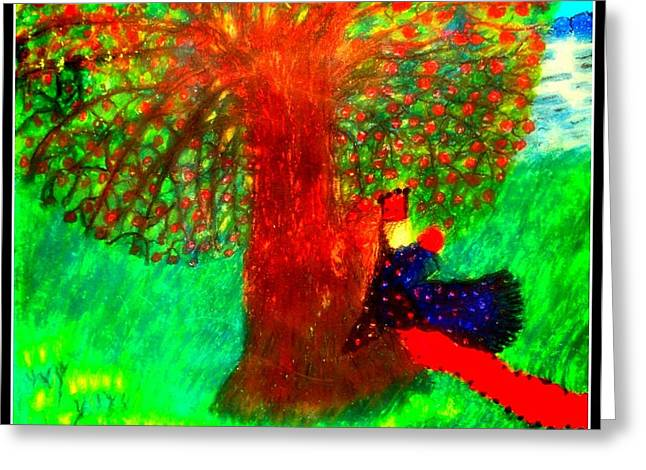Religious Pastels Greeting Cards - Song of Songs 1 Greeting Card by Maryann  DAmico