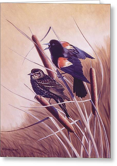 Richard De Wolfe Greeting Cards - Song of the Marsh Greeting Card by Richard De Wolfe