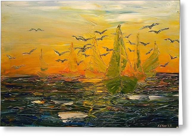 Sunset Greeting Cards Greeting Cards - Song of the Wind Greeting Card by Svetla Dimitrova