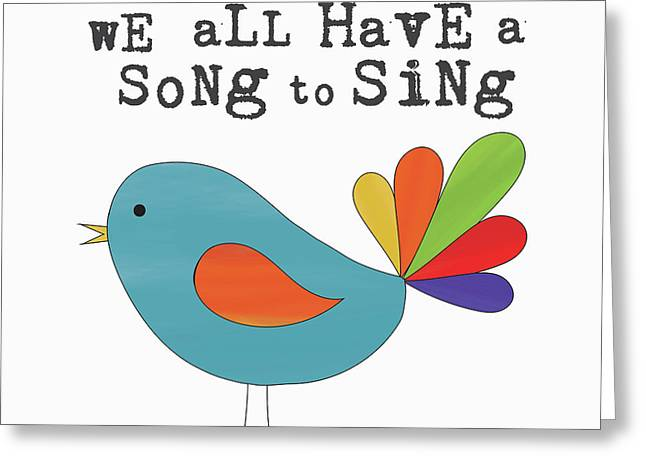 Song To Sing Greeting Card by Alli Rogosich
