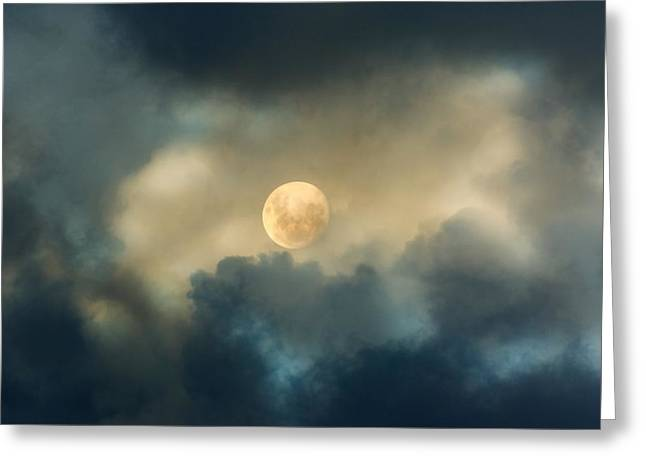 Luna Greeting Cards - Song To The Moon Greeting Card by Georgiana Romanovna