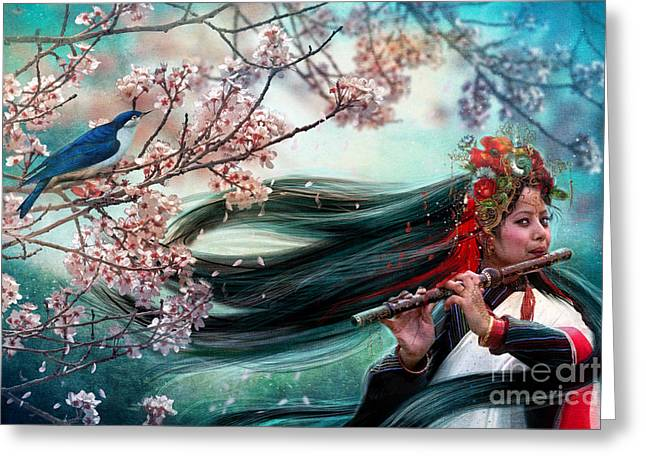 Harmonious Greeting Cards - Songbird Greeting Card by Aimee Stewart