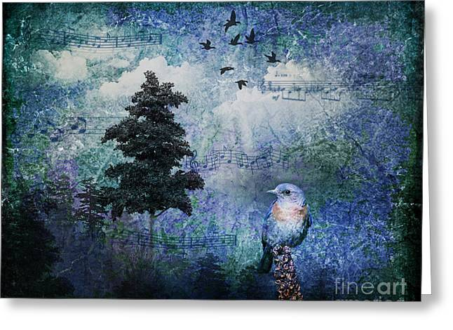 Songbird Greeting Card by Lianne Schneider