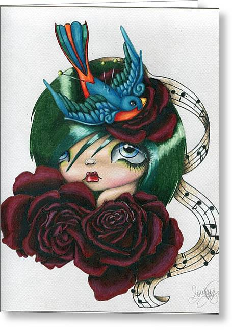 Songbird Greeting Card by Sour Taffy