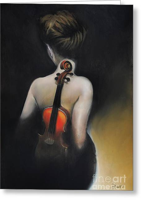 Soul Song Greeting Cards - Songs From the Red Violin Greeting Card by Steven  Nakamura