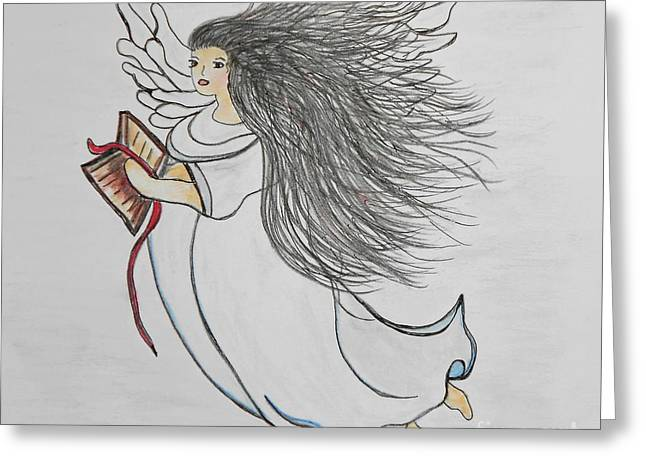 Songs of Angels Greeting Card by Eloise Schneider