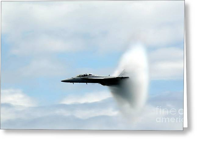 Recently Sold -  - Angel Blues Greeting Cards - Sonic Boom - Sonic Flash Greeting Card by Jeff Murphy